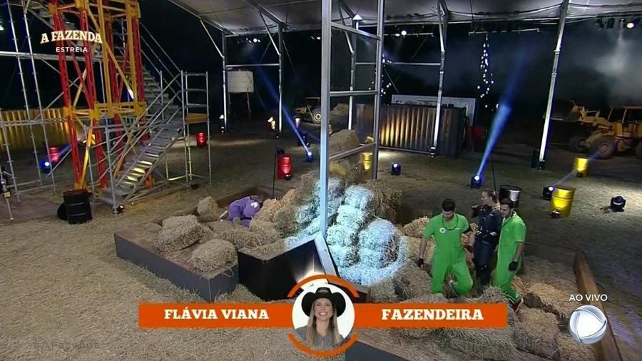 Flávia Viana vence a primeira Prova do Fazendeiro  - Reprodução/Record