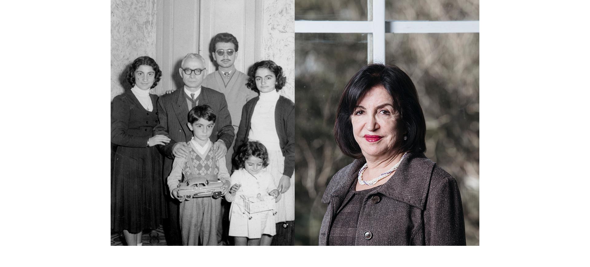 Zehbour em foto de família, no canto inferior direito/Foto: Arquivo pessoal (esq) / Carine Wallaeur (dir)