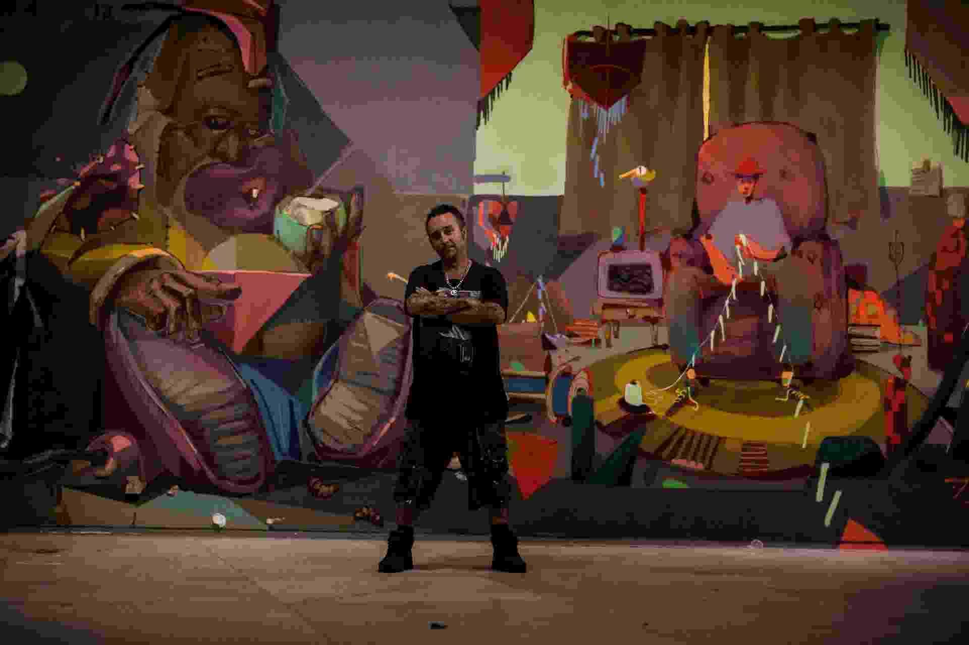 Binho Ribeiro, curador da 4ª Bienal de Graffiti Fine Art - Elza Cohen / Divulgação