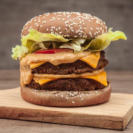 Sanduíche vegetariano Notório Big, do Hareburger - Divulgação