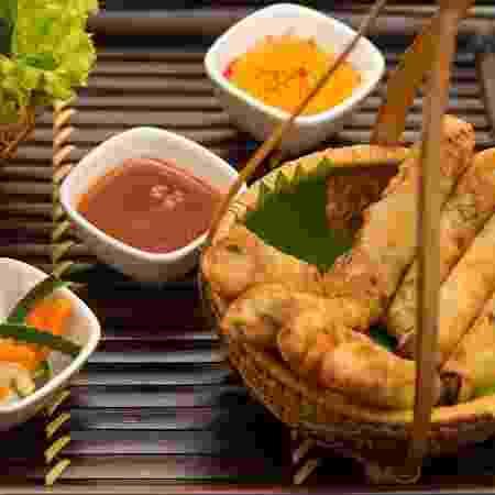 Cha Gio, rolinho primavera assado com mix de legumes e alface, do Miss Saigon - Divulgação