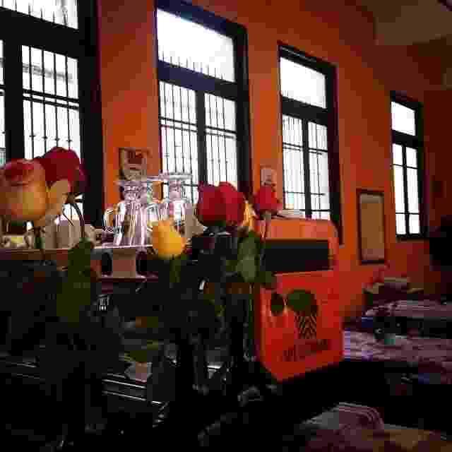 Detalhe do Café Colombiano, que funciona dentro da Oficina Cultural Oswald de Andrade - Divulgação