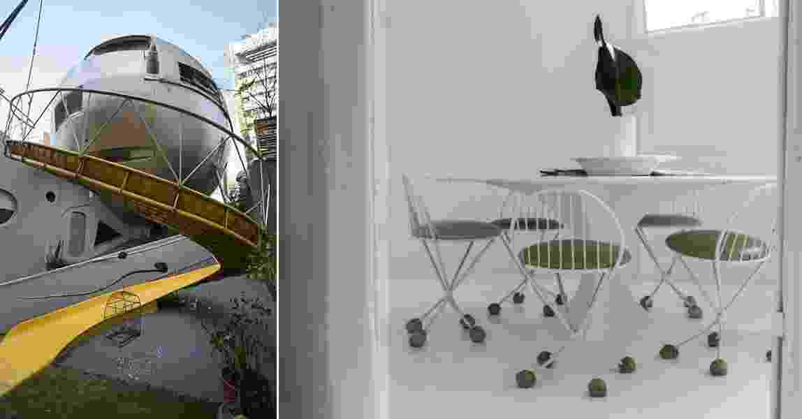 A Casa Bola, criada na década de 1970, no Itaim, chama a atenção por parecer uma espaçonave saída de um filme de sci-fi clássico - Marina Rago/Folhapress | Leandro Moraes/UOL