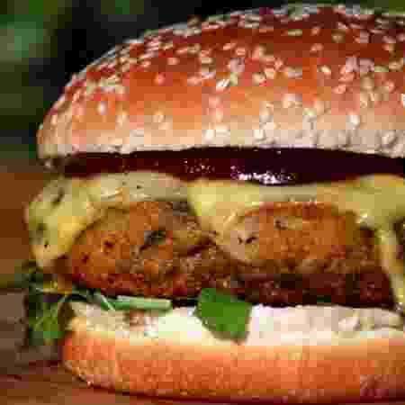 Bonito e gostoso: hambúrguer de lentilha vermelha, arroz 7 grãos, cenoura, beterraba, farinha de mandioca e especiarias - Divulgação