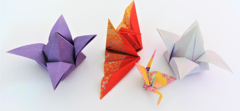 Origamis básicos e que podem se tornar peças modulares são ensinados pela artesã Helô Mayumi no Sesc 24 de Maio - Helô Mayumi/ Divulgação