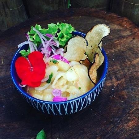 Ceviche preparado pela chef Carol Borges - Reprodução/instagram.com/chefcarolborges