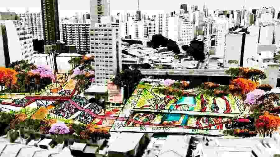 Estudo Preliminar do Teatro-Parque do Bixiga - Divulgação - Divulgação