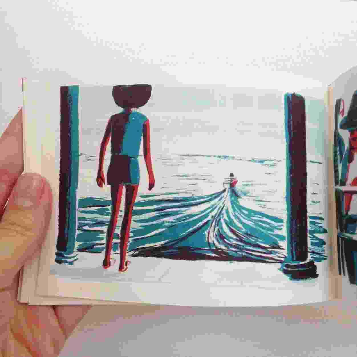 Arte Acqua Alta, quadrinho mudo de Nik Neves para a BebelBooks - Divulgação