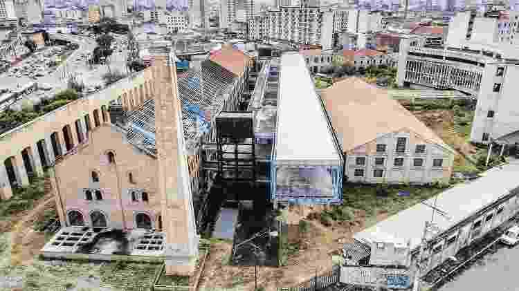 Vista aérea da Casa das Retortas, futuro Museu da História do Estado de São Paulo, no Brás - Danilo Verpa / Folhapress
