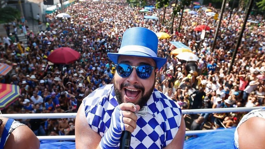 Tiago Abravanel comanda o Bloco Gambiarra, com músicas brasileiras - Bruno Poletti/Folhapres