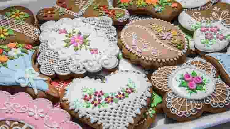 Biscoitos decorados da Fluss Haus - Oktoberfest no Anhembi em São Paulo - Simon Plestenjak/UOL - Simon Plestenjak/UOL