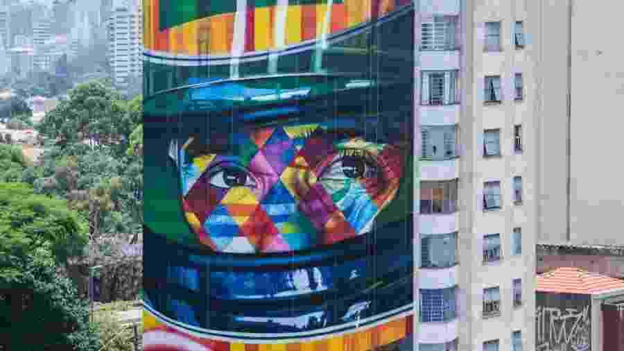 Grafites de Kobra em SP - Ayrton Senna - Divulgação