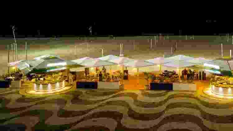 Quiosque Gavea Beach Club, na praia do Leme - Divulgação - Divulgação