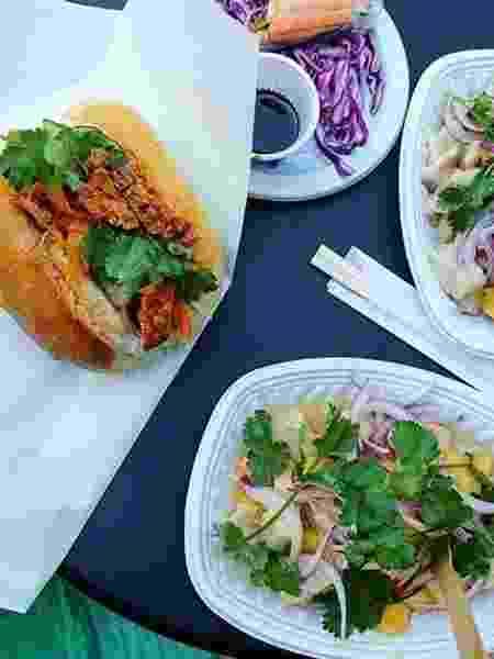 Sanduíches preparados com ingredientes frescos para servir em eventos - Divulgação