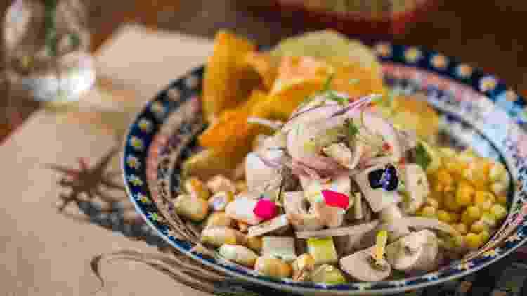 Ceviche vegetariano, do La Peruana - Guilherme Gomes / Divulgação