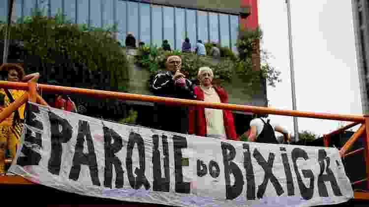 Eduardo Suplicy e Zé Celso em ato do Parque-Teatro do Bixiga - Teatro Oficina/Divulgação - Teatro Oficina/Divulgação