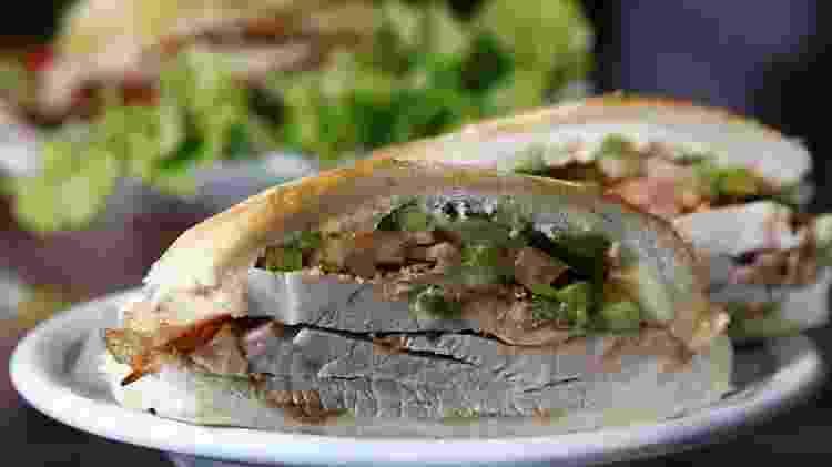 O sanduíche de pernil do Bar Estadão - Rogério Canella/Hype/Folhapress