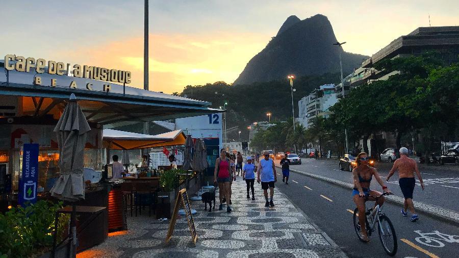 Quiosque Café de La Musique Beach, na praia do Leblon - Divulgação