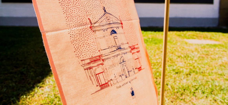 Técnica de serigrafia usada nas oficinas na calçada do Museu da Casa Brasileira - Alisson Ricardo / Divulgação
