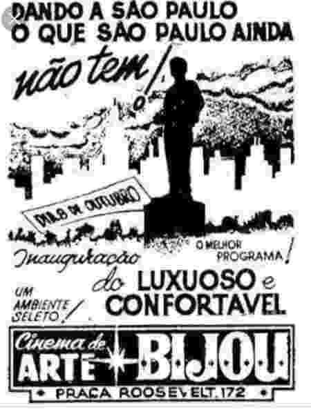 Cartaz do Cine Bijou, em 1962 - Arquivo