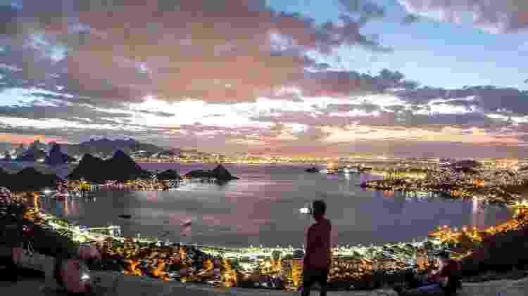 Vista do Parque da Cidade, em Niterói, ao anoitecer - Prefeitura de Niterói / Divulgação - Prefeitura de Niterói / Divulgação
