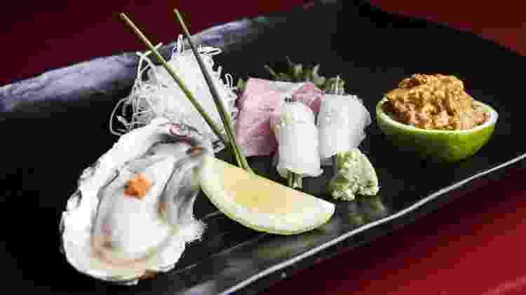 Combinado de sashimis do Restaurante Shin Zushi - Lucas Lima/Folhapress - Lucas Lima/Folhapress