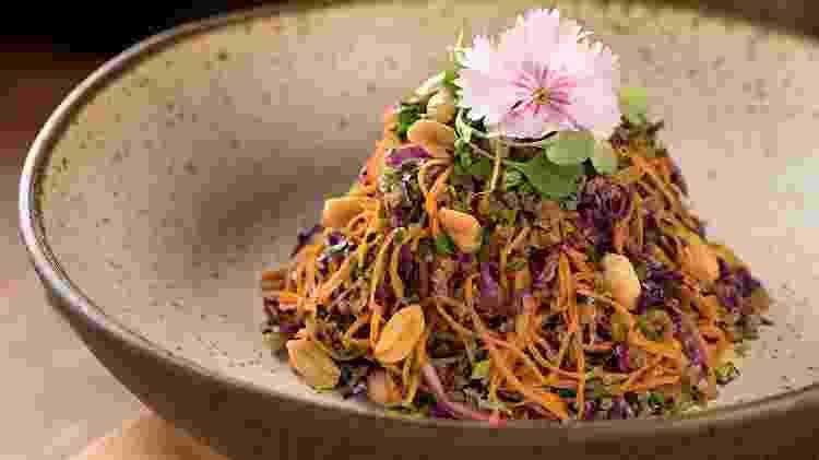 Prato Quinoa Thai, do Naturalie Bistrô - Rodrigo Azevedo / Divulgação - Rodrigo Azevedo / Divulgação