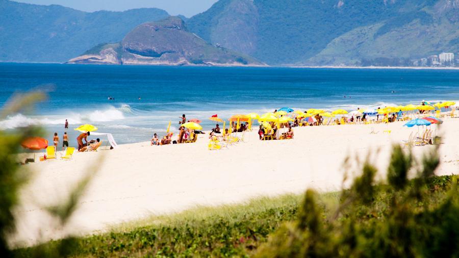 A Praia da Reserva, no Rio de Janeiro, foi palco de uma festa de swing - Riotur / Divulgação