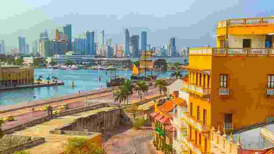 Droga estava em barco que navegava da cidade colombiana de Cartagena (foto) com destino ao porto de Colón, no Panamá - Getty Images/iStockphoto