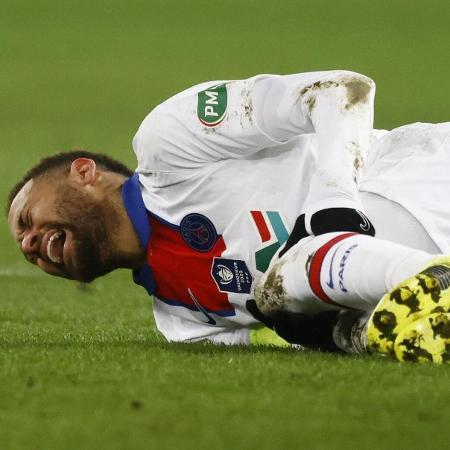 Neymar durante jogo do PSG contra o Caen pela Copa da França - Stephane Mahe/Reuters
