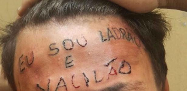 Adolescente teve testa tatuada após ser acusado de roubo em São Bernardo do Campo - Reprodução/Twitter