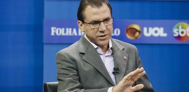 Luiz Marinho, candidato ao governo de São Paulo pelo PT, em sabatina no estúdio do UOL