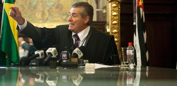 Guilherme Sartori é filho do desembargador Ivan Sartori (foto), que anulou a condenação de 74 policiais militares pelas mortes de 111 presos no massacre do Carandiru