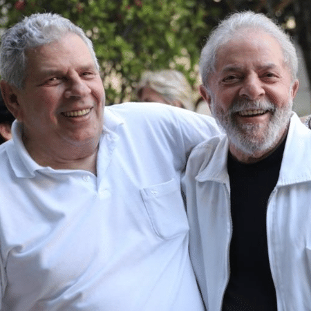 Lula e seu irmão Vavá - Divulgação/Twitter Lula