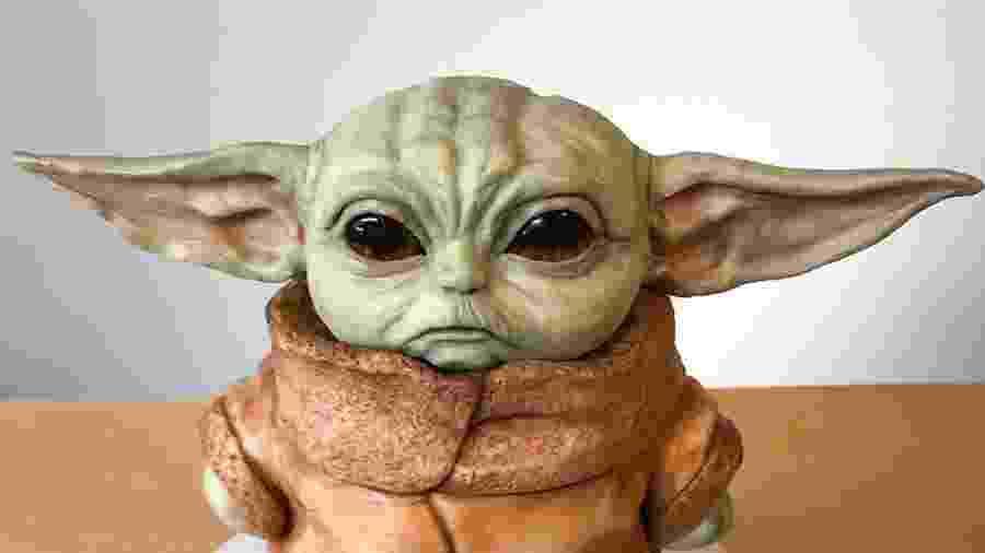 """Bolo do """"Bebê Yoda"""", criado pela confeiteira Natalie Sideserf  - Instagram/sideserfcakes"""