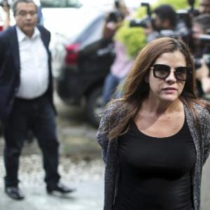 23.fev.2016 - Monica Moura, mulher do marqueteiro João Santana