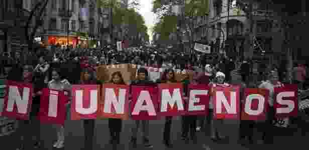 8.mar.2017 - Ato do Ni Una Menos na Argentina - AFP