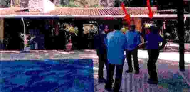 Ex-presidente Luiz Inácio Lula da Silva no sítio em Atibaia (SP) com Léo Pinheiro, sócio da OAS - Polícia Federal/Reprodução