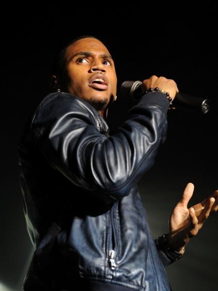 Trey Songz durante apresentação no Best Buy Theater, em Nova York (05/10/2010) - Getty Images