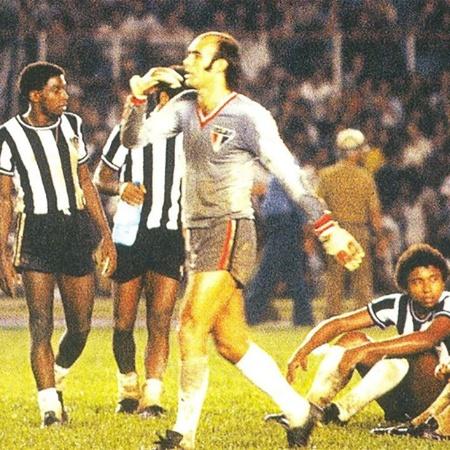 Waldir Peres, ex-goleiro do São Paulo, durante a decisão do Campeonato Brasileiro de 1977, contra o Atlético-MG - Arquivo Histórico SPFC