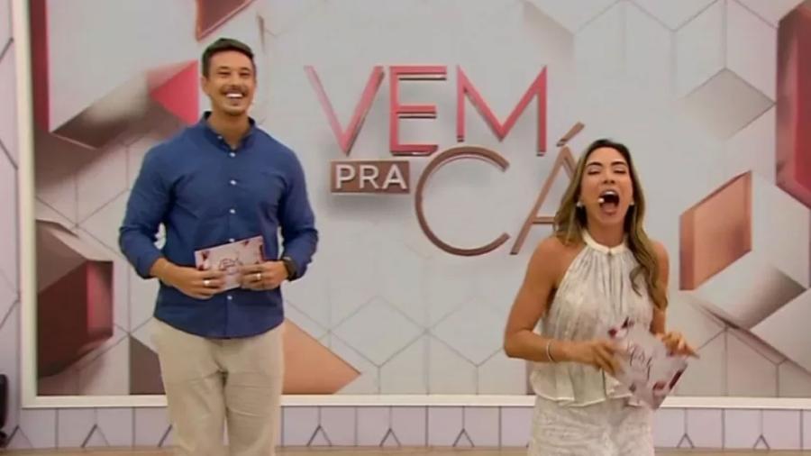 Patrícia Abravanel e Gabriel Cartolano no Vem Pra Cá - Reprodução/SBT
