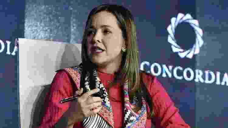 Laura Valdivieso, vice-ministra do Comércio Exterior da Colômbia, defende as medidas 'antidumping' - Gabriel Aponte/Getty Images