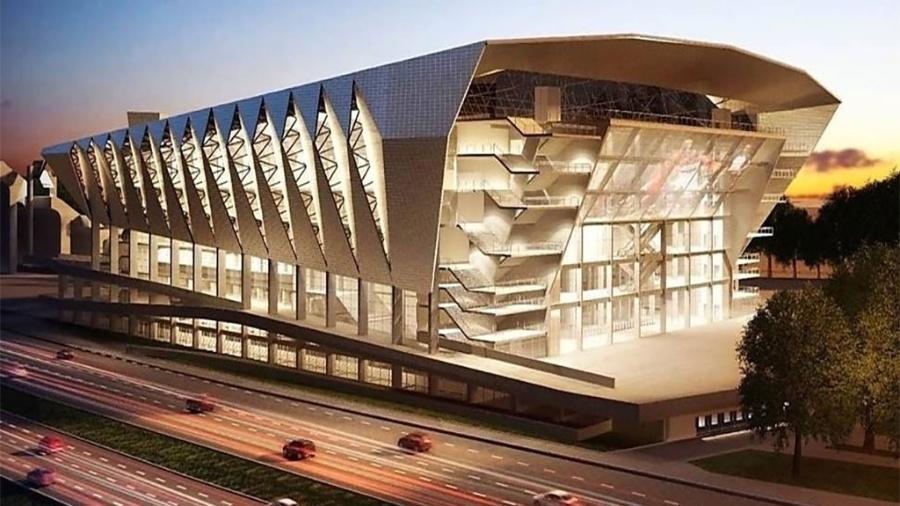 Projeto de arena para o Anhembi - Reprodução/Tetra Projetos