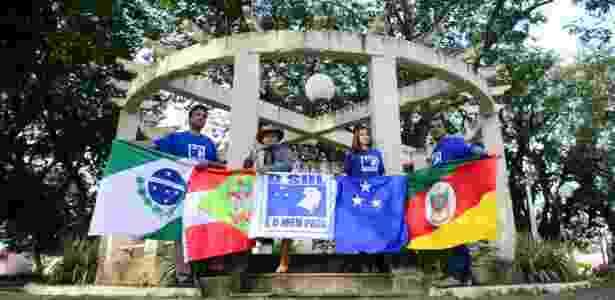 Um grupo de gaúchos, catarinenses e paranaenses pretendem organizar um plebiscito informal em outubro para pedir a separação do Sul do restante do Brasil - Edu Andrade/Folhapress