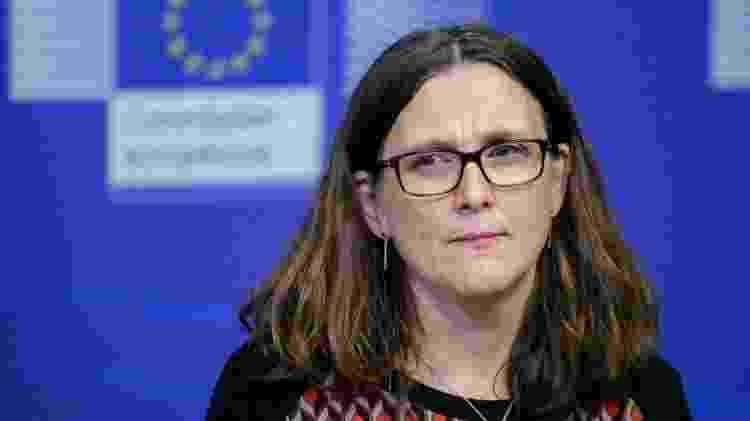 Cecilia Malmstrom é comissária para o Comércio da Comissão Europeia desde novembro de 2014 - ARIS OIKONOMOU/Getty Images