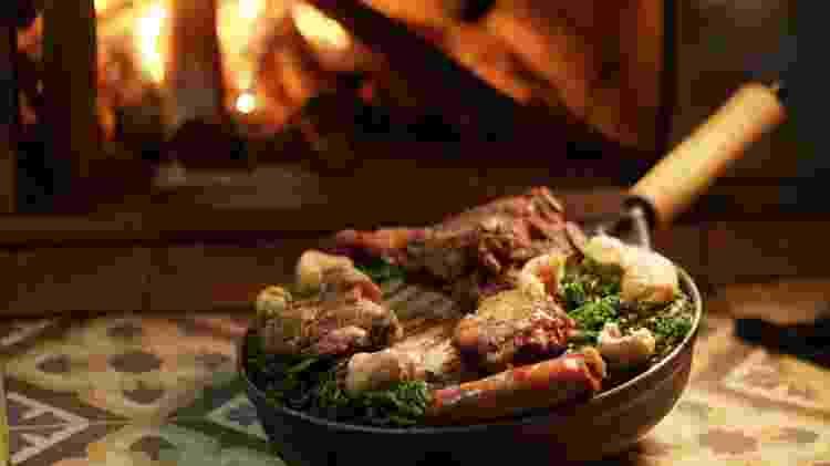Prato do restaurante Viradas do Largo, em Tiradentes - Divulgação