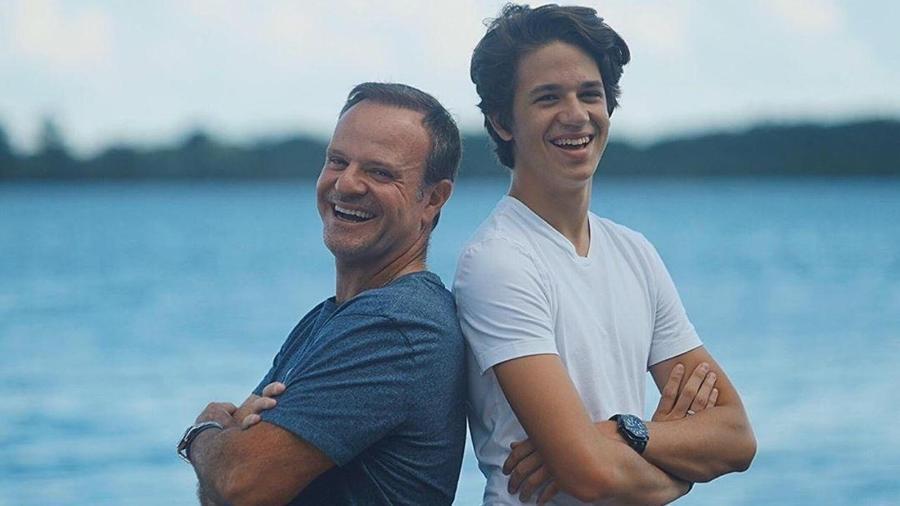 Rubens Barrichello e o filho Dudu - Reprodução/Instagram