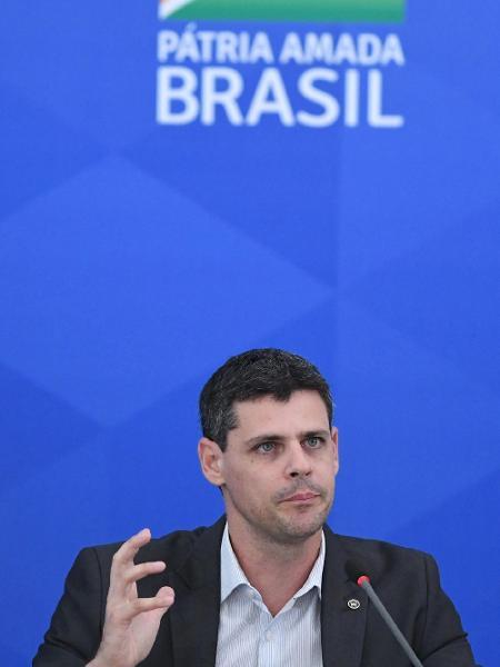 Secretario do Tesouro Nacional Bruno Funchal em coletiva do ministério da economia -  Edu Andrade/Ascom/ME