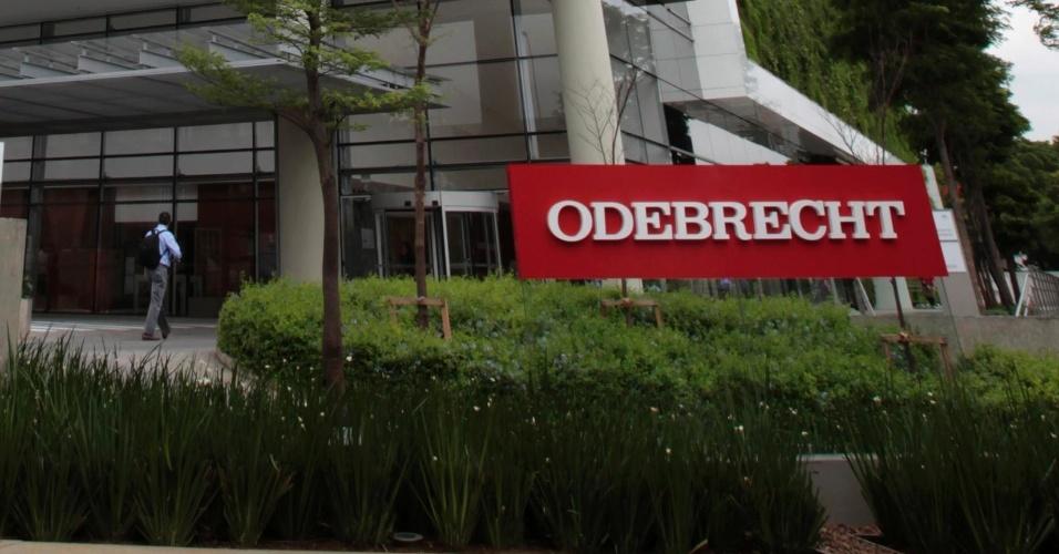 Prédio onde fica a sede da construtora Odebrecht, em São Paulo