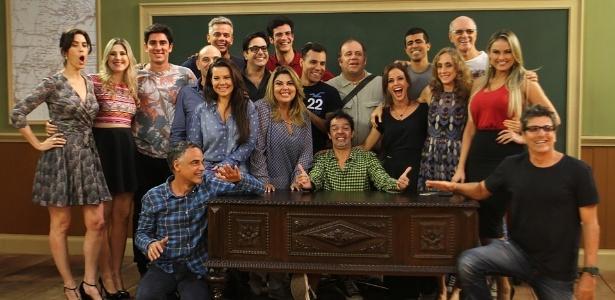 """Elenco da """"Escolinha do Professor Raimundo"""" - Anderson Borde/AgNews"""